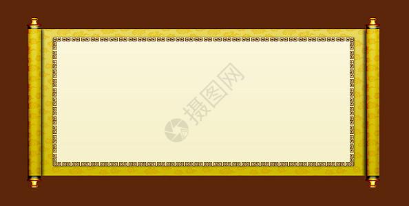 中国风画轴素材祥云图案高清图片