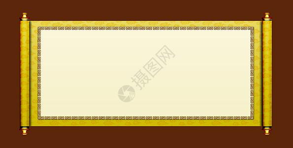 中国风画轴素材祥云图案图片