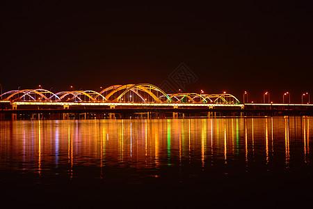 夜景灞河大桥图片