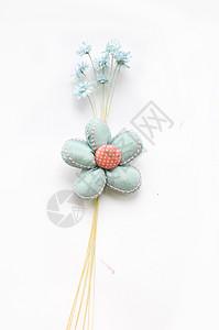 蓝花碎花背景图片