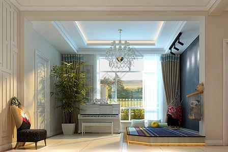 欧式风格的客厅效果图图片