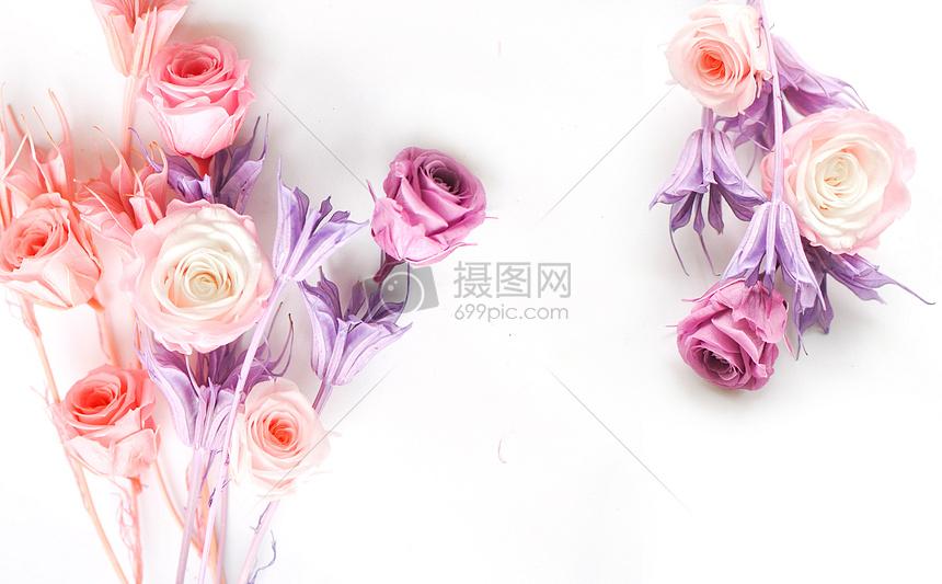 情人节520七夕节玫瑰花背景图片