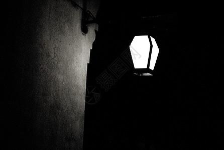 墙角的灯高清图片