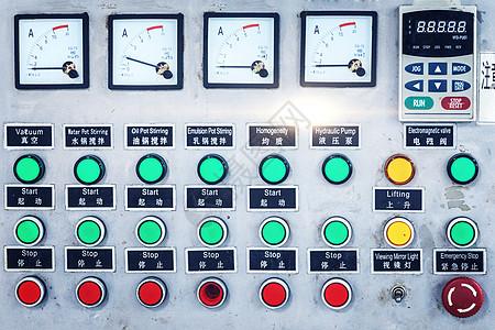 彩色中国现代企业工厂监控仪表正视图图片