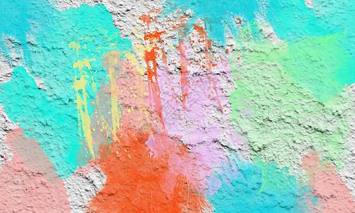 色彩丰富的涂鸦墙壁图片