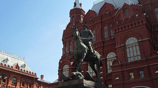 莫斯科红场附近的骑马雕塑图片