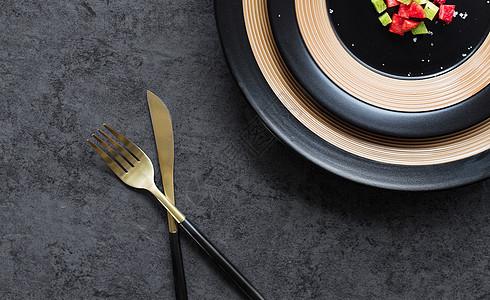 葡萄牙金色刀叉图片