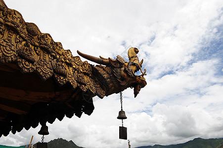 大昭寺龙形飞檐图片