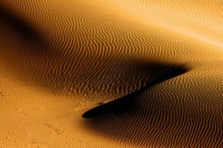 起伏的波浪纹的沙漠图片