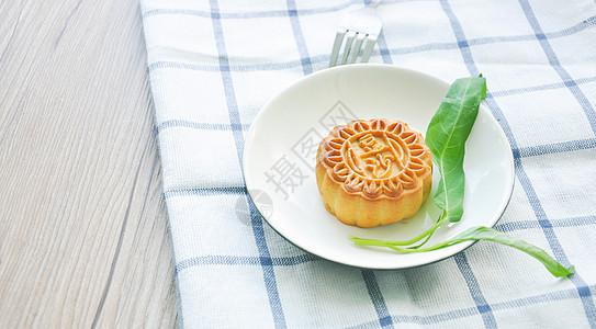 豆沙月饼吃中秋美食图片