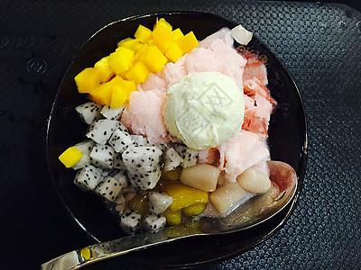 沙冰美食水果冰沙搭配制作图片