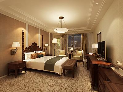 现代风格的主卧室效果图图片
