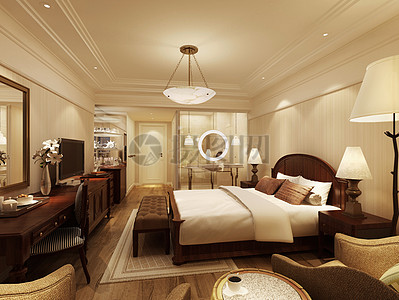 温馨的欧式卧室效果图图片
