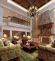 欧式别墅客厅效果图图片