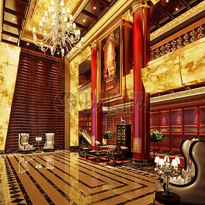 中式风格的售楼处效果图图片