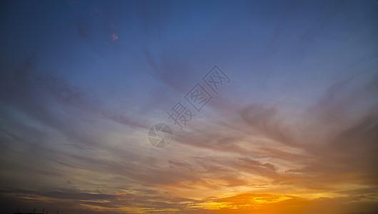 黄昏的天空图片