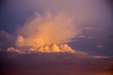 黄昏的云图片