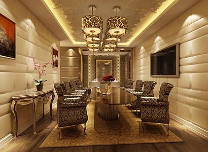 美丽的家装餐厅效果图图片