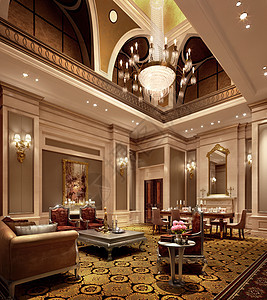 美丽的欧式客厅效果图图片