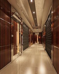 现代简约走廊效果图图片