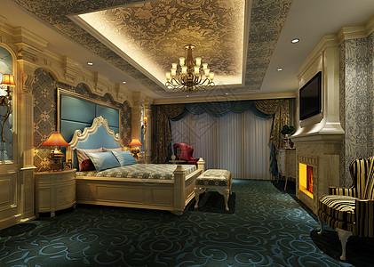 美丽的欧式卧室效果图图片
