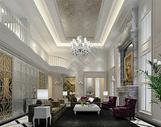 豪华别墅客厅效果图图片