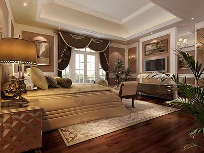大气的欧式卧室效果图图片