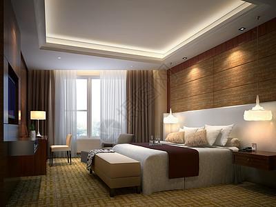 优雅的卧室效果图图片