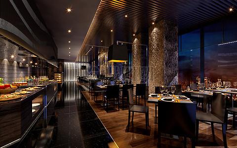 大气的餐厅效果图图片