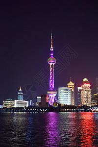 上海外滩的明珠塔图片