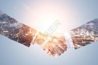 商务握手合作企业服务背景图片