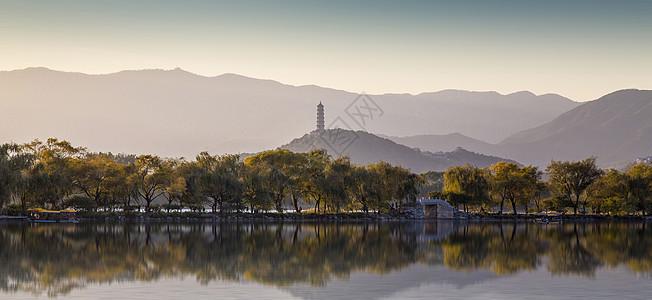 秋景·颐和园昆明湖图片