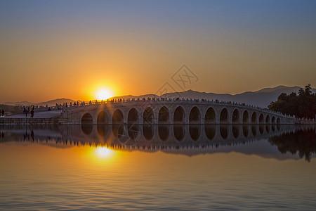 黄昏·十七孔桥图片