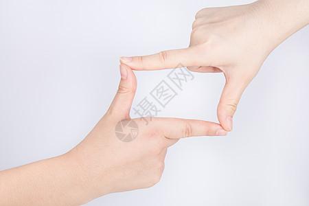 双手拼成一个框图片