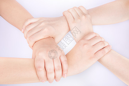 团队双手交叉叠在一起图片