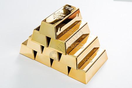 整齐码放的金砖图片