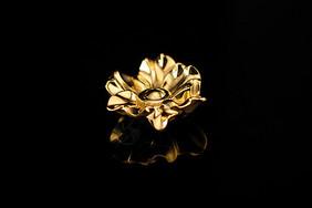 金色的花朵饰品图片