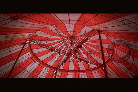 马戏团 伪电影 红白棚 表演 舞台图片