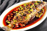 徽菜 臭鳜鱼 橙色 美食图片