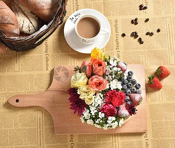 花朵蛋糕水果糕点生日蛋糕图片