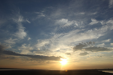 黄河落日图片