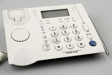 白色的电话座机图片