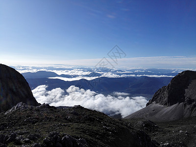 玉龙雪山看远处处晴空图片
