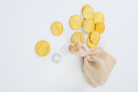 财富富有金币金子储蓄图片