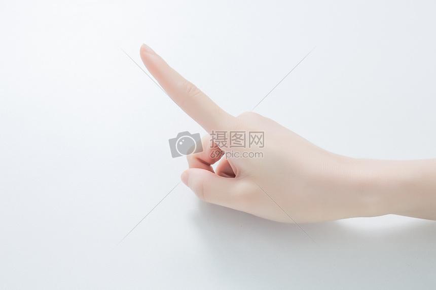 手指点击某处图片