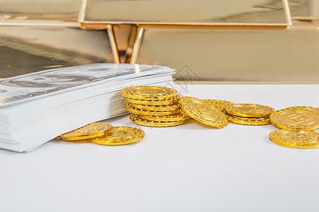 财富富有金币美元储蓄图片