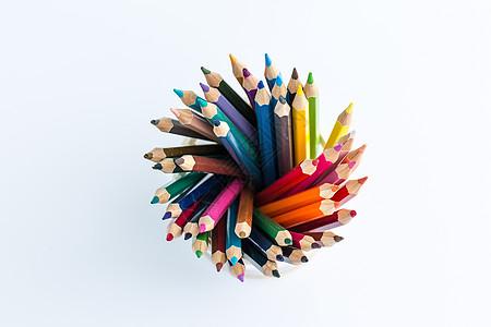 教育设计铅笔渐变创意拍摄图片