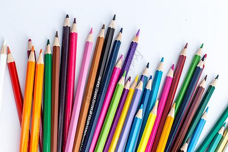 教育设计铅笔凌乱创意拍摄图片