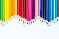 教育设计铅笔彩色波浪形创意图片