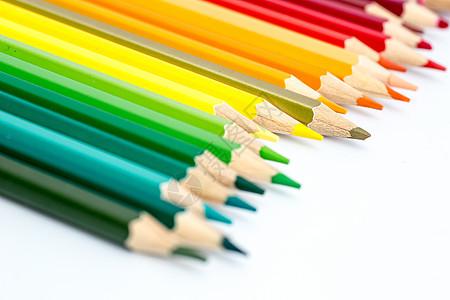 教育设计铅笔前景虚焦平铺创意拍摄图片